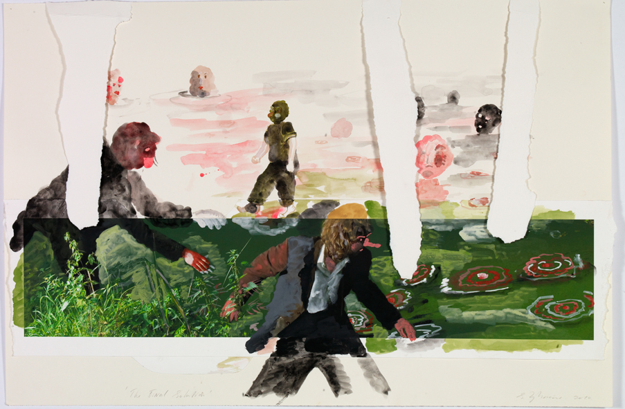 Sylvie Zijlmans, The Solution, gouache on paper, 2010
