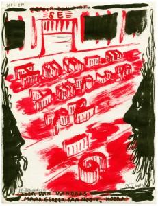 Hewald Jongenelis - 2013 - drawing - Er is er een harig